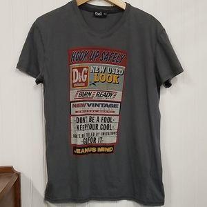 D&G Grey Signboard Tshirt Size M